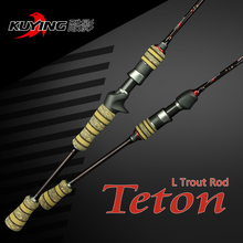 KUYING 1.98m Teton L Casting Spinning Lure Fishing Rod Pole for fish with FUJI ring Carbon Cloth For Opsariichthys Free shipping(China (Mainland))