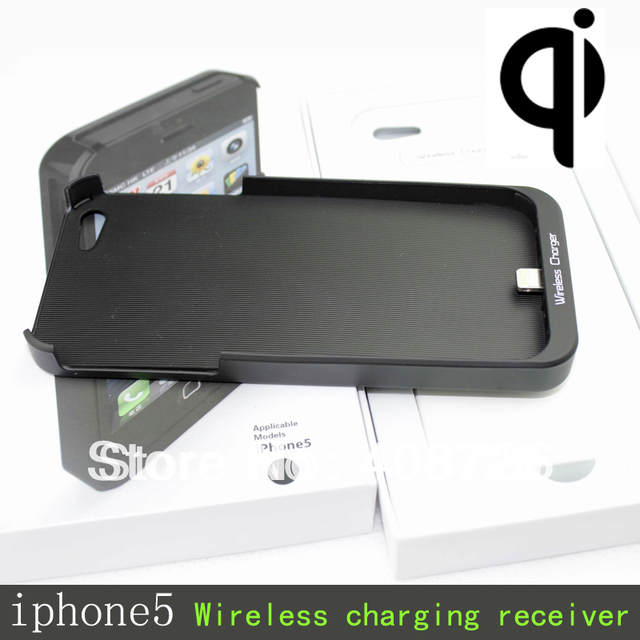 Qi Wireless Charger Receiver Case charging transmitter supplied QI standard Jacket for iPhone5 G 100pcs/lot free DHL