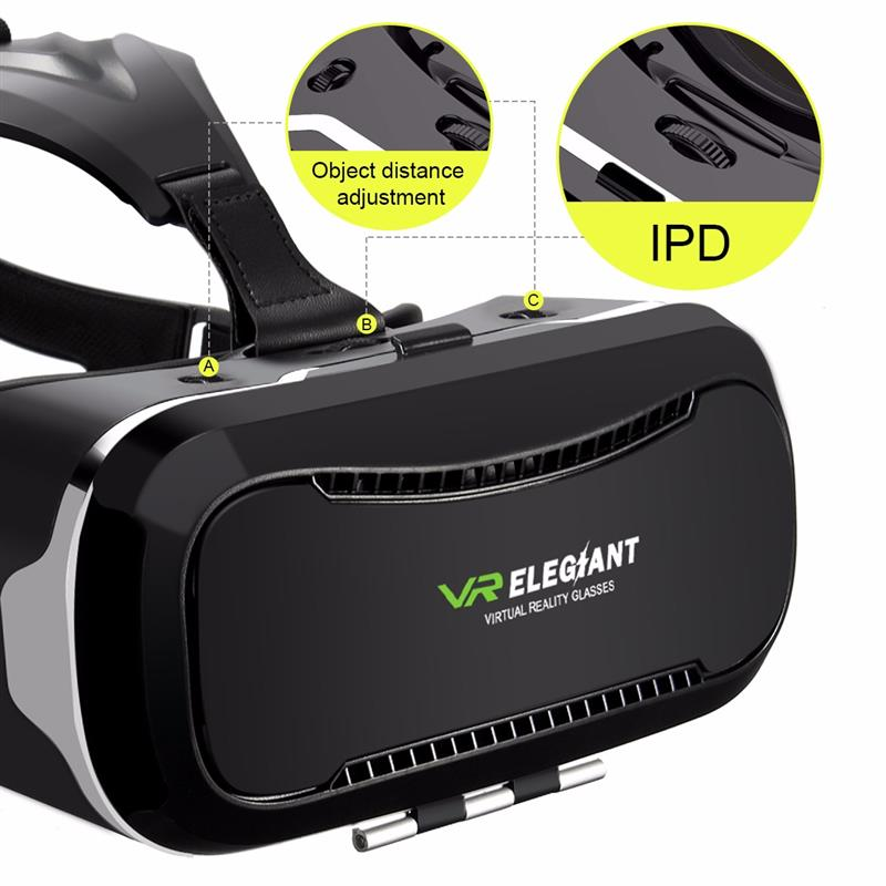ELEGIANT 2 Generation Smart VR Virtual Reality Glasses 3D Glasses Games VR Helmet Headset for Smart Phone