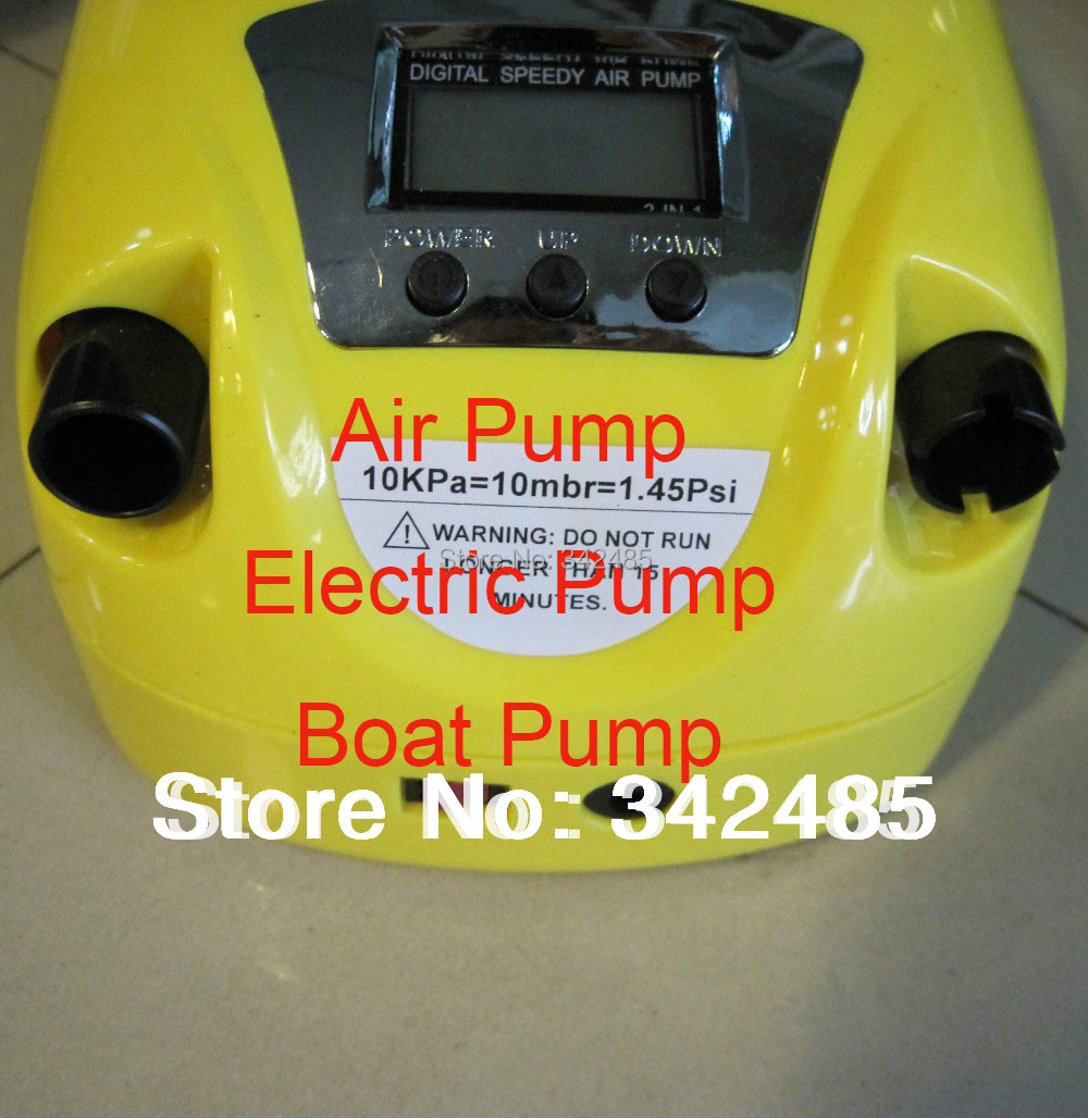 12v electric speedy air pump rubber inflatable fishing boat Gp-80D LCD display portable easy use - For All Fashion Shop store