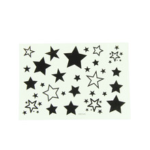 Newly Design Hollow Solid Black and White Five pointed Star Waterproof Temporary Tattoo Stickers