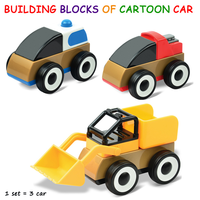 Assembly Building Block of  cartoon Series Sets Enlighten Educational DIY Dump Truck toy cars<br><br>Aliexpress