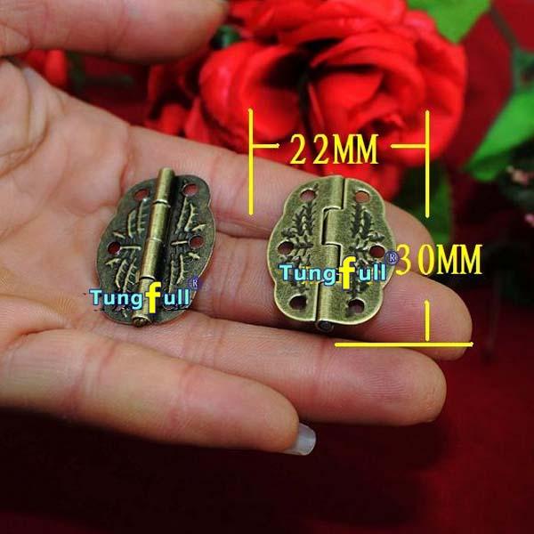 Fast Shipping 50pcs antique hinge metal printing small wooden gift box hinge 6 small holes box hinge 30*22mm(China (Mainland))