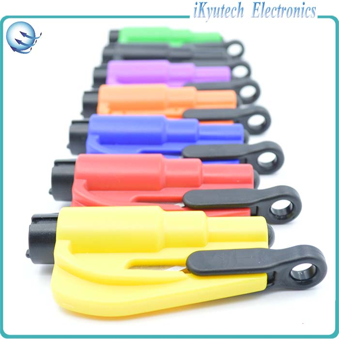 Seat Belt Cutter Car Safety Car Knife Tool Glass Breaker Life Hammer Keychain Car Emergency rescue from danger Tool Windows(China (Mainland))