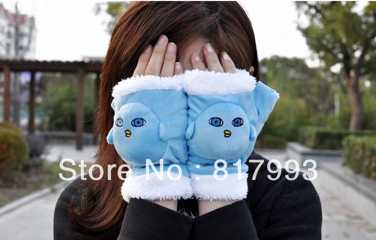 KUROKO'S BASKETBALL Kuroko no Basuke Plush Glove cute Aomine Daiki blue Mitten men women winter warm accessory(China (Mainland))
