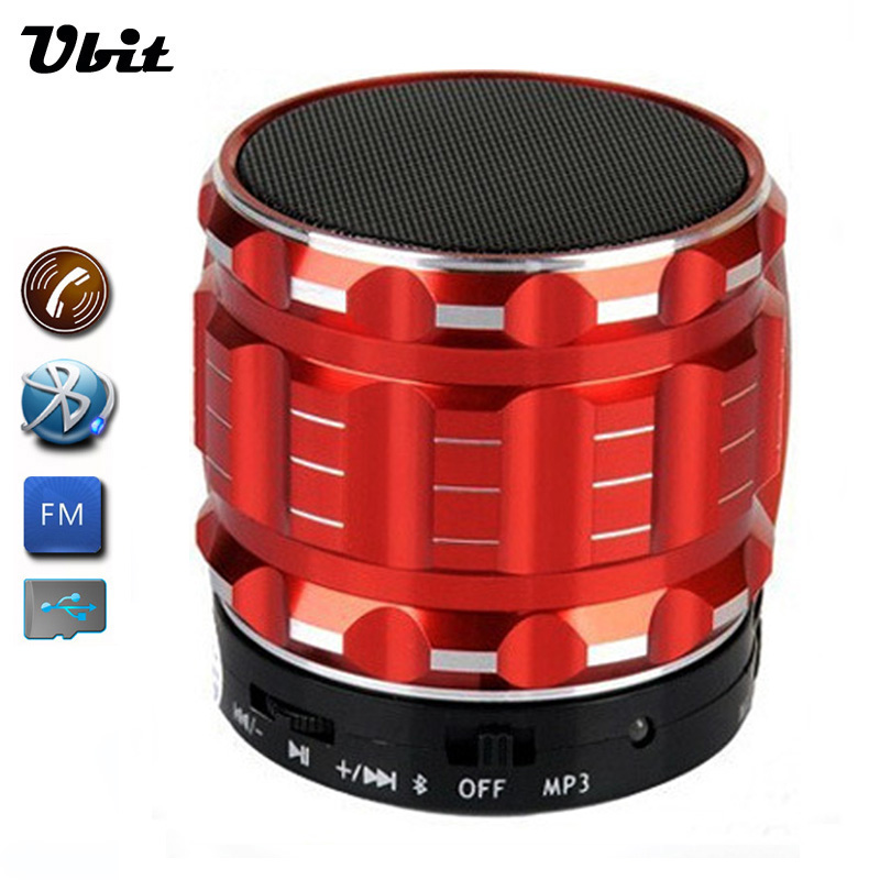 Ubit Portable Mini Bluetooth Speakers Metal Steel Wireless Smart Hands Free Speaker With FM Radio Support SD Card For Phone(China (Mainland))