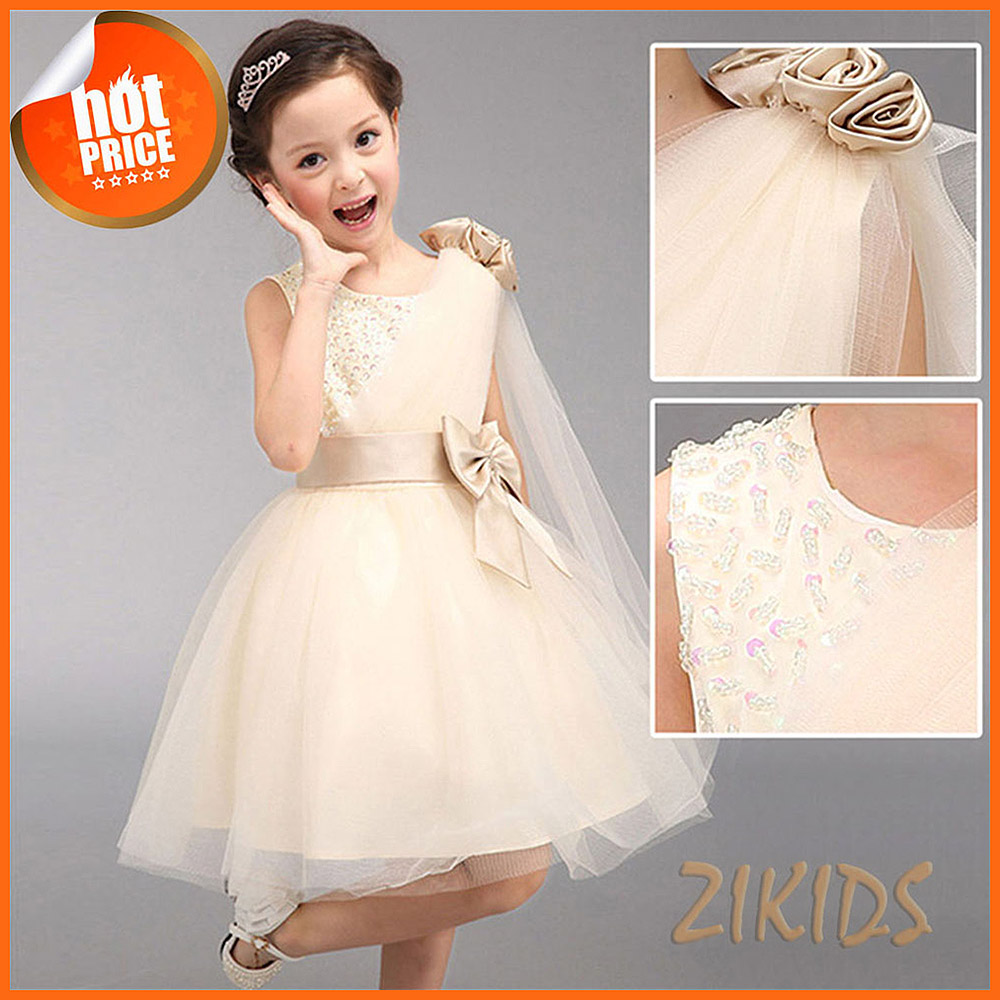 Luxury Flowers Girls Dresses for Wedding Evening Party Sequined Princess Summer Dress Girl Children Brand Kids Clothes 2016 Sale(China (Mainland))