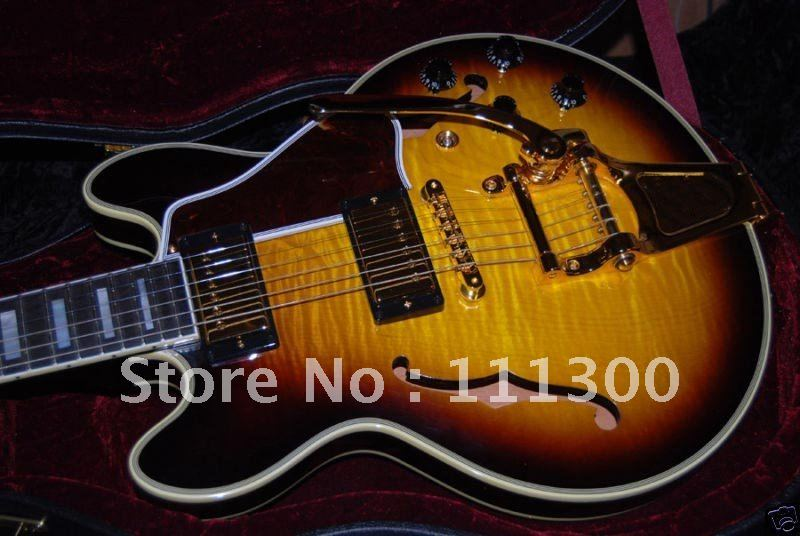 Musical Instruments Custom 356 Figured Top Electric Guitar Bigsby - best guitar factory store
