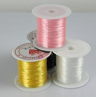 New 4 Color 23 ft Stretchy Clear Bead String Elastic Jewelry Socks Knit Wire High Quality Fashion Jewelry Bead(China (Mainland))