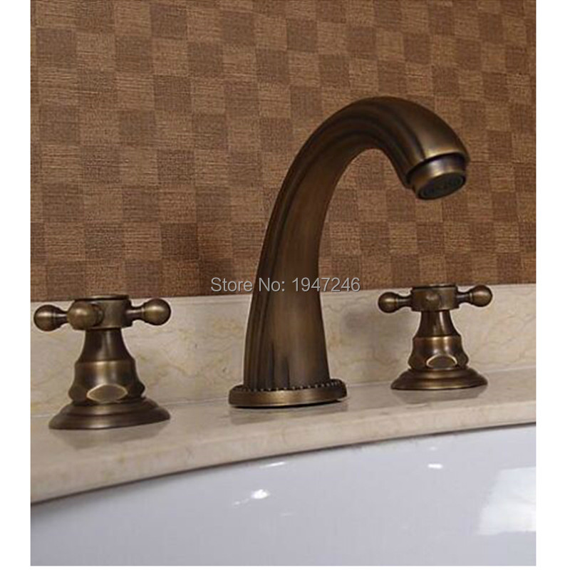 Factory direct new arrival patent design luxurious antique for Bathroom 8 inch faucets