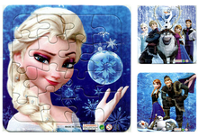 3Pcs/Lot Hot Cartoon Paper Jigsaw Puzzles Toys For Children Princess And Elsa Olaf Kids Educational Toy 2+ Years GYH(China (Mainland))