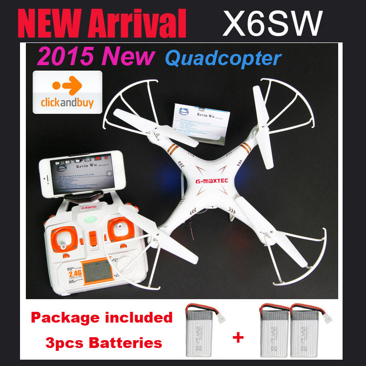 Newest X6SW RC camera drones Real - time Transport...