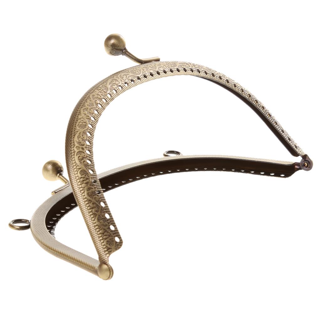 16.5/20cm Vintage Metal Frame Kiss Clasp Lock Arch Handle for Purse Handbag