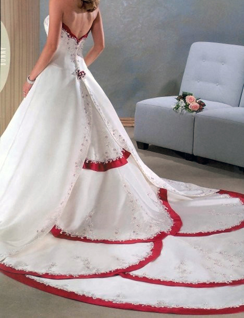 popular red and white wedding dressesbuy cheap red and