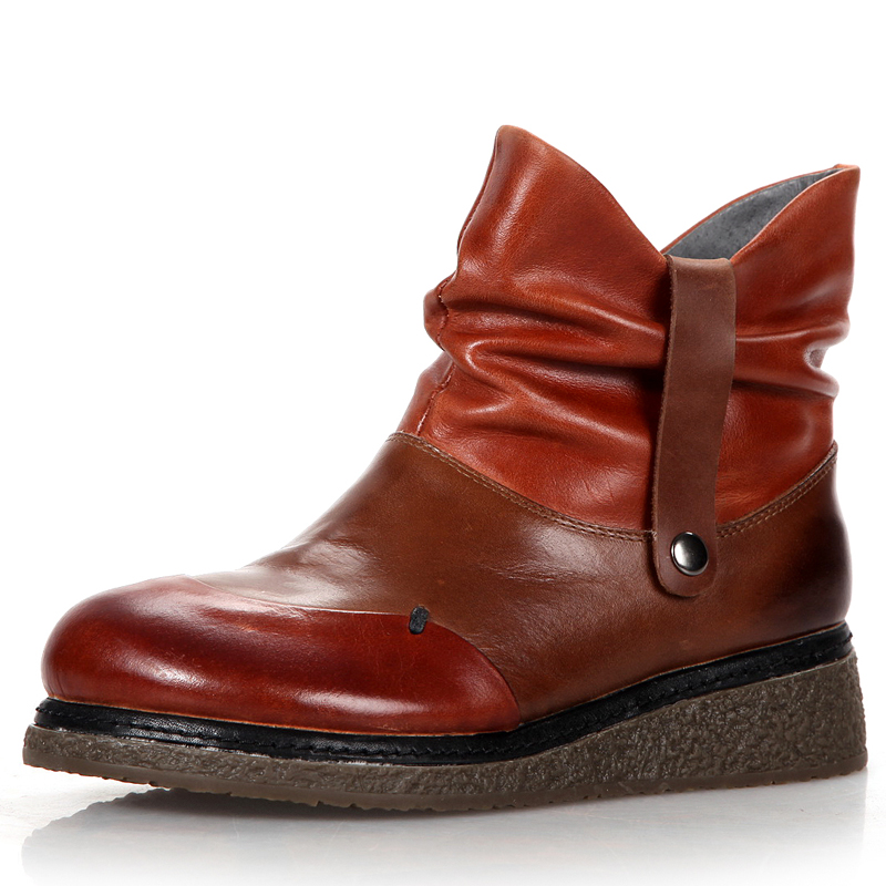 fashion brown platform wedges shoes womens ankle boots
