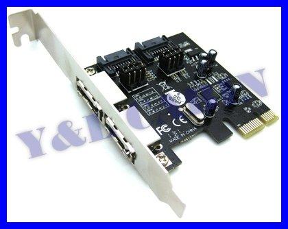 2 Port eSATA e-SATA 3.0 & 2 Port SATA 3.0 Serial ATA to PCI-E PCI Express Card Adapter Converter 6.0Gbps ASM1061, Brand New(China (Mainland))