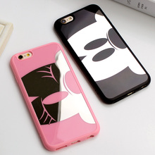 Pink Panther Mirror Mickey Minnie Soft TPU Case iphone 6 6s 6Plus 5 5s SE Cover Cases Coque Fundas - MagicMall store