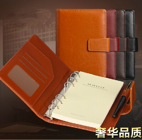 Business PU Leather School Stationery Spiral Notebook Diary Books Supplies Office Notebooks - chengfu zhang's store