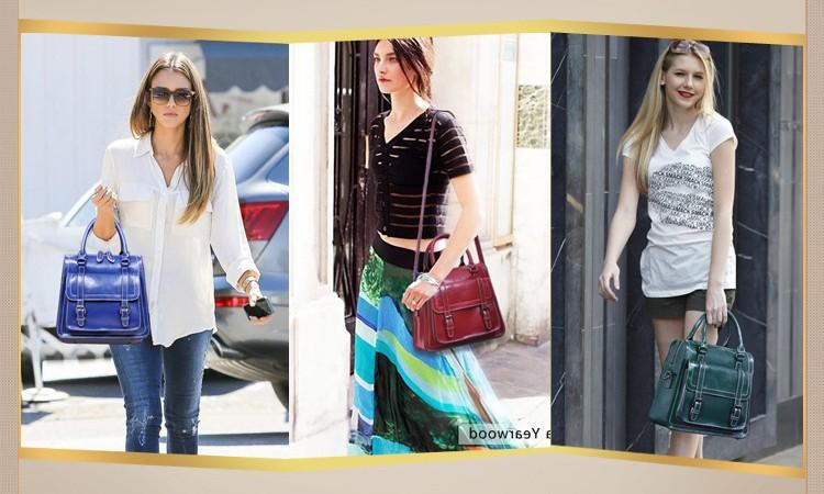 Genuine Leather Satchel On Sale Ladies Hand Bags Burgundy Zipper Top H