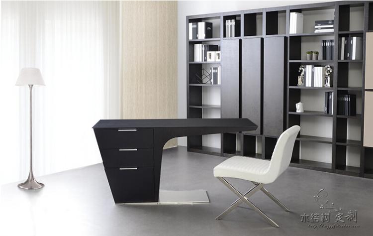 elegant l shape leather modern executive desk office table. Black Bedroom Furniture Sets. Home Design Ideas