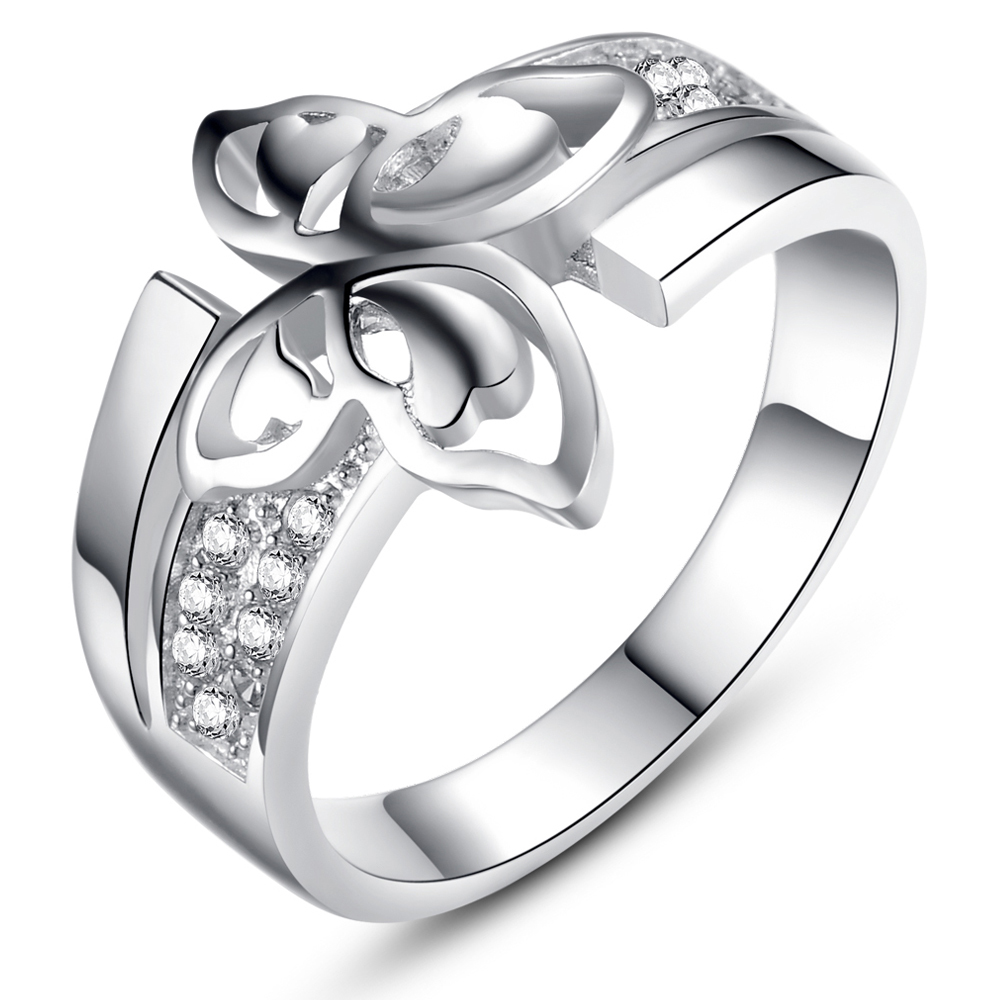 heart shaped engagement rings that are really fancy butterfly wedding rings Heart Shaped Engagement Rings That Are Really Fancy weddingring m com