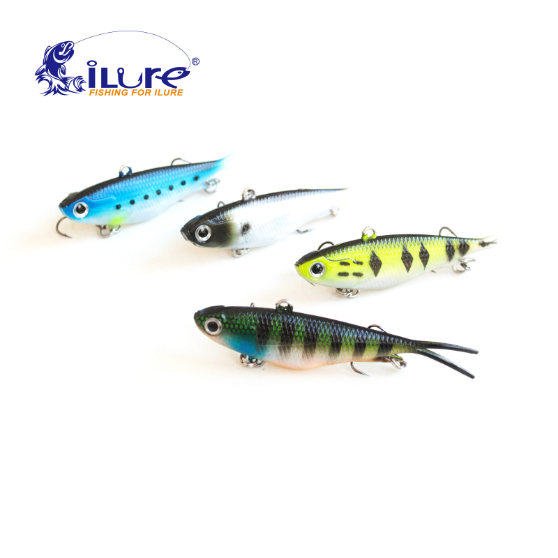 5 pcs lot soft VIB lures with forked tail mainly used for font b fishing b