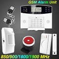 Free shipping Wireless GSM Alarm system Home security Alarm systems LCD Keyboard Sensor alarm PIR Door