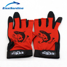 Fishing Gloves ANTI SLIP 3 Half Fingers Clothing Sport Skidproof Mesh Material Fishing Tackle Gloves