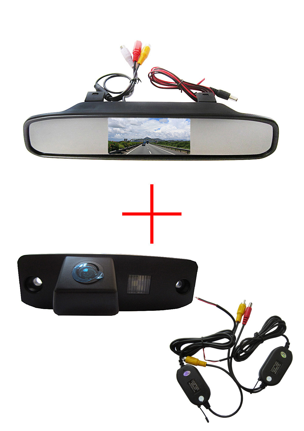 Wireless CCD Car RearView Camera for Hyundai Tucson Accent Elantra Terracan Veracruz Sonata,with 4.3Inch Rearview Mirror Monitor(China (Mainland))