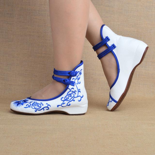 Мода женская обувь старого пекина мэри джейн квартиры с свободного покроя обувь китайском ...