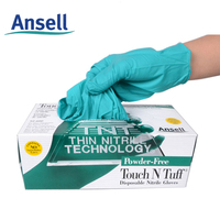 free shipping Ansell 92 - 600 thickening chemical laboratory testing of disposable medical nitrile rubber gloves SGV002