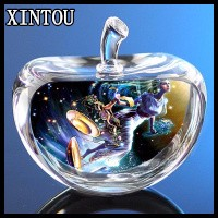 XINTOU Round LED Customized Mini Photo Keychain  DIY Foto Laser Engraved Cadre Photo Crafts Souvenirs Wedding Favors and Gifts