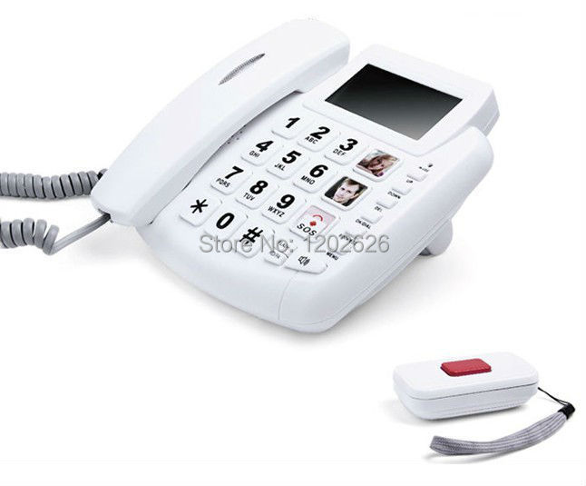 High Quality Big Button SOS Emergency Call Telephone,White Color,Free Shipping!(China (Mainland))