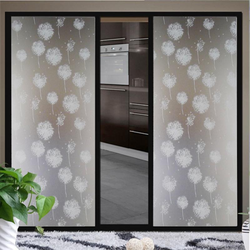 2m Length Waterproof Dandelion Frosted Privacy Home Bedroom Bathroom Window Glass Film Sticker