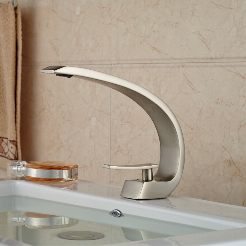 Unique design bain sink faucet single handle beautifull for Odd shaped kitchen sinks