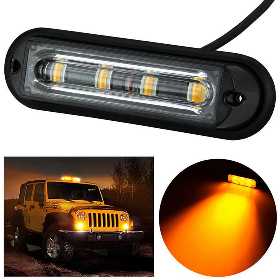 4 led light bar beacon vehicle grill strobe light. Black Bedroom Furniture Sets. Home Design Ideas