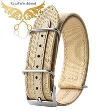 Watch band 18mm 20mm 22mm Beige Sports Nato Fabric Nylon Watchband Watch Strap Accessories Bands Buckle Belt