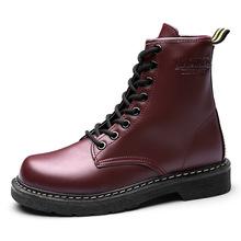 IPCCM marka 2018 yeni moda kadın kar botları kış bayanlar düz renk Martin çizmeler kısa artı kadife sıcak pamuk shoes35-43(China)