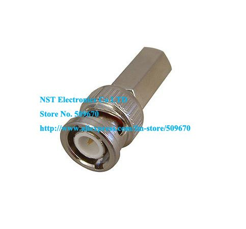 RG59 coaxial cable twist on BNC camrea connector BNC MaleTwist-On Plug RG59 CCTV Cable Coax Adapter/Free Shipping/6PCS(China (Mainland))