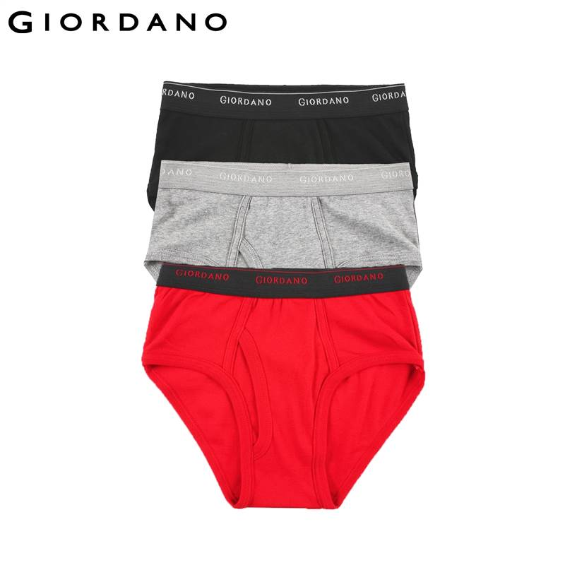 giordano men underwear basic cotton soft male underwear 3pcs sous vetement homme ropa interior. Black Bedroom Furniture Sets. Home Design Ideas