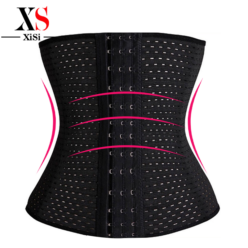 3Rows hooks women slimming Cheap body shaper Bustier belt fashion 4 steel boned waist training corsets