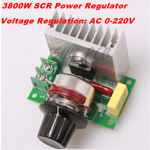 FreeShipping AC 0-220V 3800W SCR High-power Electronic Voltage Regulator / Dimming Speed Control Thermostat - LONG RANGE ELECTRONICS store