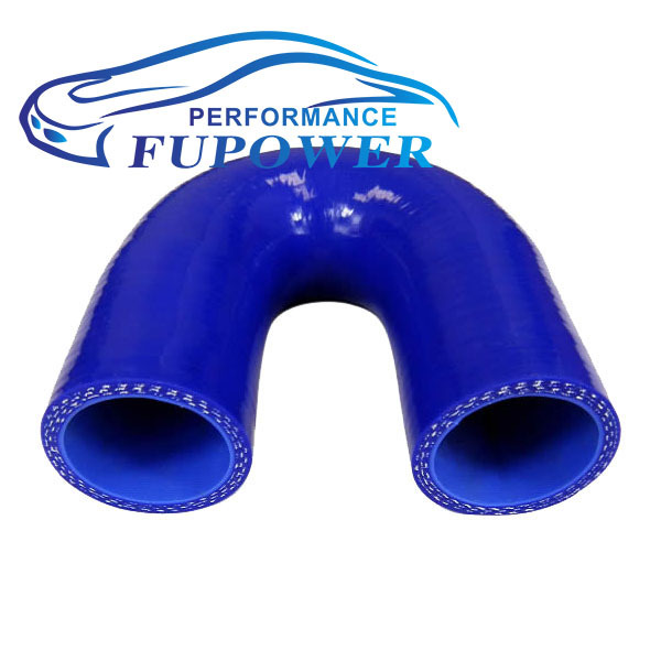 """180 Deg 102mm length 2""""inch or 51mm Silicone Elbow Hose Bend Silicon Rubber Coolant Radiator Pipe Tube Car BLUE(China (Mainland))"""