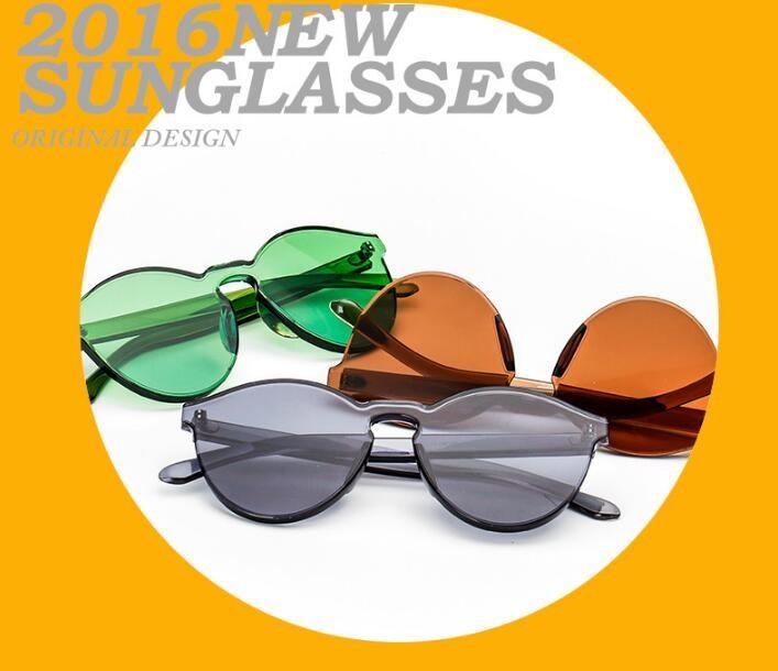 N83 Fashion Candy Color Cat Eye Integrated Eyewear Women Keyhole Sunglasses Shades Luxury Brand Designer Sun glasses UV400