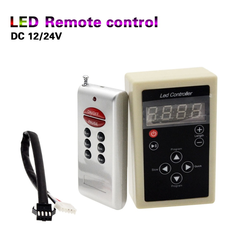 133 Colors Conterter RF Remote DC12V 24V 6803 IC Colorful Magic Led Strip Light Controller With Receiver and Cables 1Set(China (Mainland))