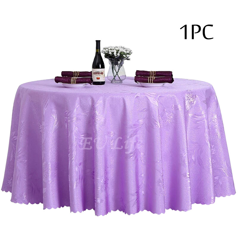 Polyester Dining Table Cloth Decoration Party Wedding Hotel Table Cover Round Tablecloth Burgundy Ivory Table Linen Wholesale(China (Mainland))