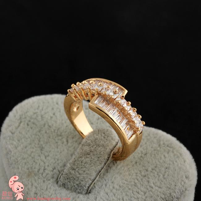 Simple life 18k gold filled Womens Ring (KUNIU J0462) FREE SHIPPING(China (Mainland))