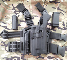 Buy Military Tactical LV3 Light Bearing HOLSTER SET GLOCK 17 19 22 23 31 32 RH Drop Leg GLOCK holster for $33.14 in AliExpress store