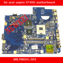 Free shipping Original laptop motherboard for acer aspire 5740G motherboard MB.PMG01.003 55.4GD01.441G PGA989 DDR3 Fully tested(China (Mainland))
