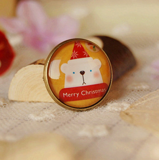 Merry Christmas White Bear Pins Small Broch Jewelry Gadgets Pin Badge Best Christmas Jewelry for Kids xz23(China (Mainland))